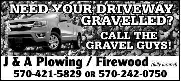 Service Directory - J&A Plowing - Firewood - Gravelling